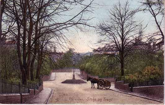 Victorian Postcard of The Villas Main Road